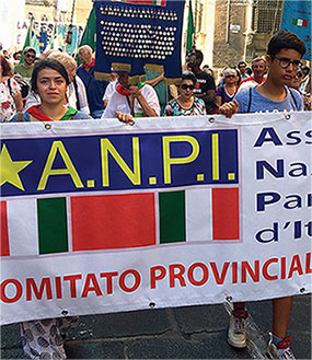striscione ANPI in manifestazione