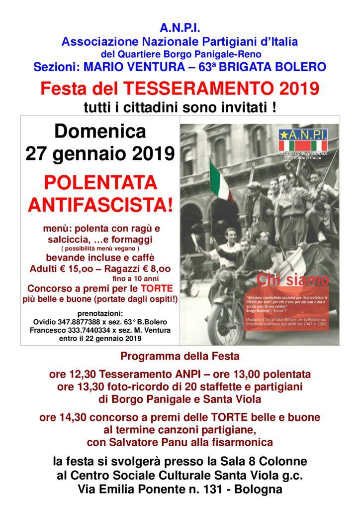 Festa del TESSERAMENTO 2019