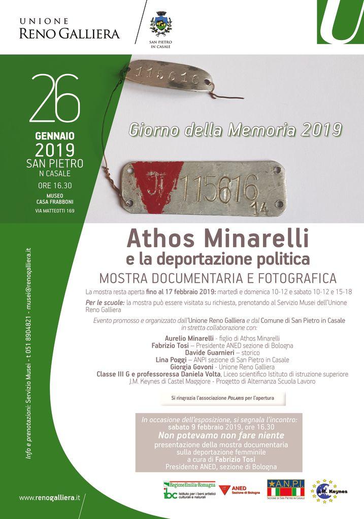 Athos Minarelli e la deportazione politica - Inaugurazione della mostra documentaria e fotografica