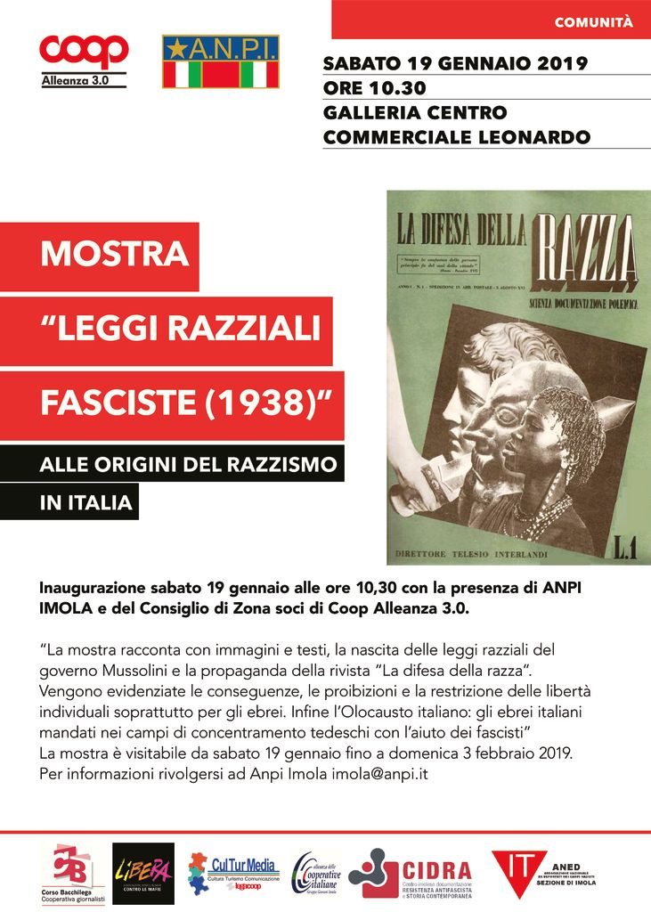"Mostra ""Leggi Razziali fasciste (1938)"""