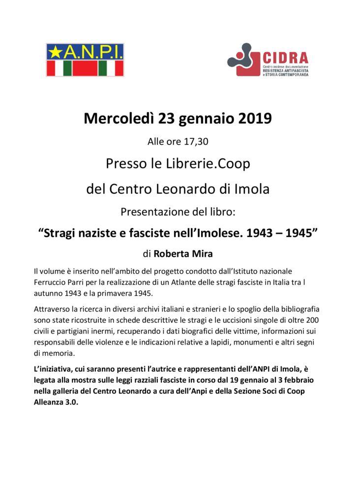 """Presentazione del libro: """"Stragi naziste e fasciste nell'Imolese. 1943 – 1945"""""""