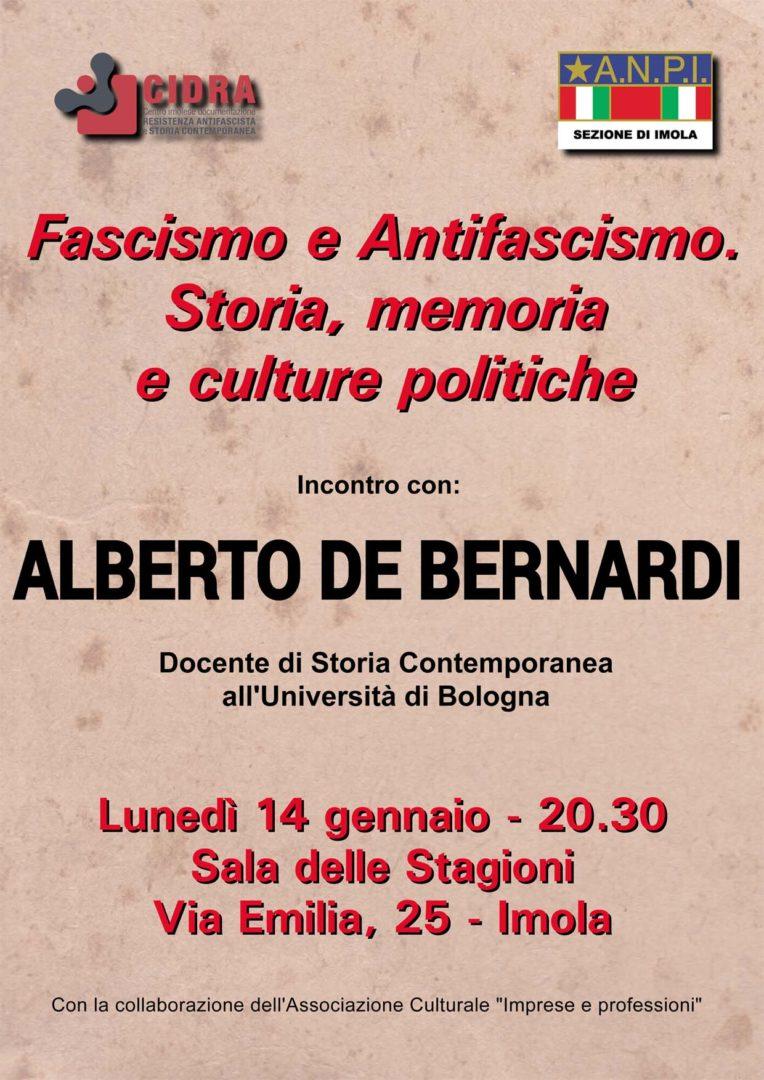Incontro con Alberto de Bernardi - Fascismo e Antifascismo. Storia, memoria e culture politiche