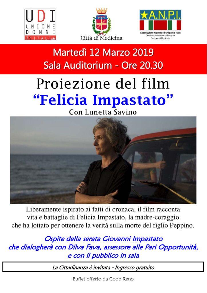 presentazione del film FELICIA IMPASTATO