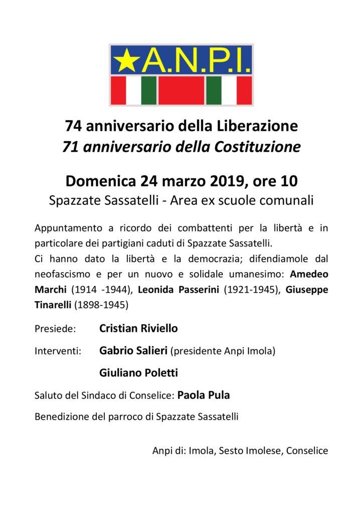 74 anniversario della Liberazione  71 anniversario della Costituzione