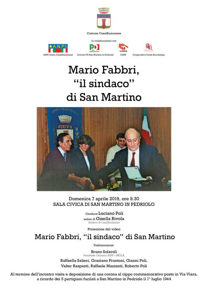 "Mario Fabbri, ""il sindaco"" di San Martino"