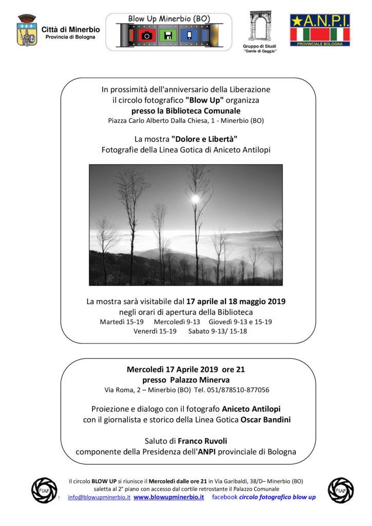 """mostra """"Dolore e Libertà""""  Fotografie della Linea Gotica di Aniceto Antilopi"""