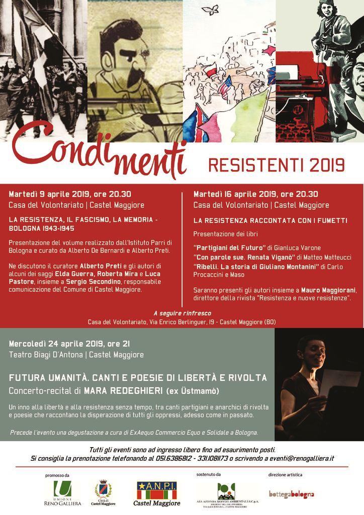 Condimenti Resistenti - LA RESISTENZA, IL FASCISMO, LA MEMORIA - BOLOGNA 1943-1945