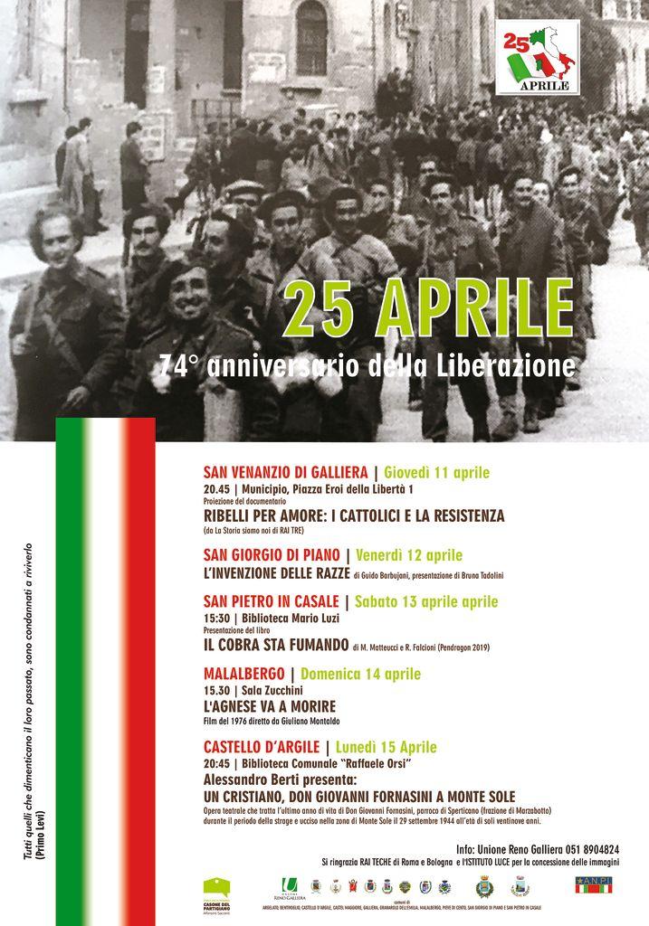 74 anniversario della Liberazione - Unione Reno Galliera - UN CRISTIANO, DON GIOVANNI FORNASINI A MONTE SOLE